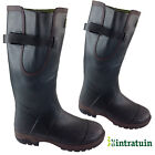 INTRATUIN Men Wide Calf Fit Wellington Rubber Boots Hunting Fishing Muck Wellies