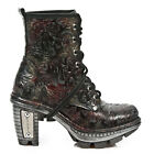 NewRock NEW ROCK NEOTR008-S13 VINTAGE FLOWER BLACK RED GOTHIC ROCK PUNK BOOTS
