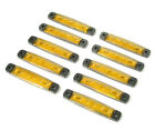 10x 24v yellow Led Side Marker Light Lamp Fits Volvo Iveco Mercedes Scania Daf