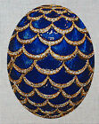 "Needlepoint canvas ""Easter gold Royalty pattern egg """