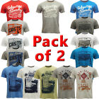 Mens T-Shirts South Shore Tokyo Laundry T Shirt *Pack of 2* New