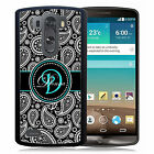 PERSONALIZED RUBBER CASE FOR LG G3 G4 G5 BLACK PAISLEY