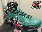 707558-363 Nike Lebron XII 12 Christmas XMas [7.5-12] Emerald Green MSRP 220