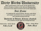 ATLANTA FALCONS  NFL FAN ~ CERTIFICATE ~ DIPLOMA ~ GIFT ~ MAN CAVE ~ DIRTY BIRDS on eBay