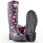 SPLASH Polka Dot Print Wellington Boots Festival Dog School Walking Rain Wellies