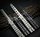Steel Practice Butterfly Balisong Trainer Newbie Training Style Knife Tool WFR
