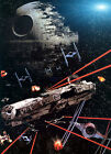 Star Wars Movie Millennium Falcon Death Star Giant Poster - A0 A1 A2 A3 A4 Sizes $18.84 CAD on eBay