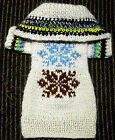 Extra Small Size Hand Made Dog Sweater Cable Hoodie Chihuahua