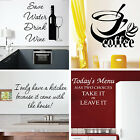 Kitchen Wall Quotes Decoration Art Sayings Words Writing Gift Sticker Transfer