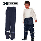 OCEAN Kids Waterproof Elasticated Over Trousers Casual Pants Boys Rain Clothes