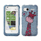 For HTC Radar 4G Design Skin Bling Crystal Gem Hard Protector Case Cover Phone