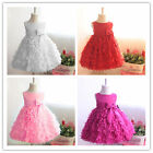 Hot Girl Wedding Party Pageant Prom Ball Tulle Flower Princess Dress Formal