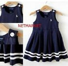 New Baby Girl Summer Sailor Vest Dress Christening Wedding Clothes 1-3Y  outfit