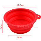 Portable Folding Dog Puppy Cat Pet Food Water Feeding Bowl for Camping Traveling