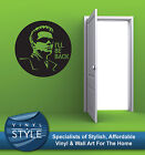 TERMINATOR I'LL BE BACK GRAPHIC DECOR QUOTE STICKER WALL ART VARIOUS COLOUR