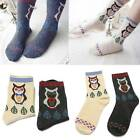 1 Pair Owl Socks Animal Women Girl Cotton Cute Wool Cartoon Winter Warm Soft