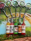 WINE BOTTLE CHARM KEYRING ORANGE GREEN PINK BROWN HEN PARTY CELEBRATION FAVOUR
