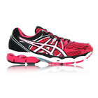 ASICS Gel-Pulse 6 Womens Pink Black Cushioned Road Running Sports Shoes Trainers