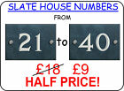 Slate House Sign Numbers 21 to 40