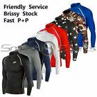 New Long Sleeve Compression Skin Tight Base Layer Shirt Rashie Sizes S-3XL TFx
