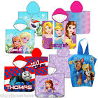 Kids Girls Hooded Poncho Beach Towel Children's Beach Robe Disney Frozen Sofia