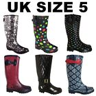 Girls Garden Fashion Wellington Boots Teen Festival Dog School Walking Wellies