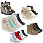 Damen Sneakers Sneaker-Wedges Keilabsatz Hidden 99176 Wedges Gr. 36-41