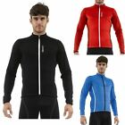 Santini Tempo Mens Warm ThermoFleece Triple Pocket Road Cycling Bike Jersey