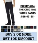 Dickies 874 Original Fit Work Pants Bottom Sizes 42 to 58