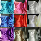 Medium weight stretch satin fabric material Q243