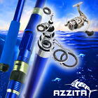 6' 7' 8' 9' 10' 11' Surf Fishing Rod Reel Freshwater Saltwater Carbon Rods Combo