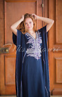 Moroccan kaftan Embroidery Batwing Maxi Dress Dubai Sexy Arabian Abaya one size <br/> One size fits from XS to 2XL /100% cotton, Spring Sale