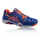 Asics Gel-Resolution 6 Mens Blue Orange Tennis Badminton Sports Shoes Trainers