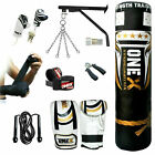 New 13 Piece 5ft heavy Filled Boxing Punch Bag Set,Gloves,Bracket,Chains MMA Pad