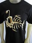 Bad Bone Fish Party beach surf skate tee shirt men's black pick your size