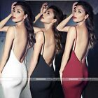 Sexy Womens Lady Stretch Bodycone Slim Backless Spaghetti Strap Dress