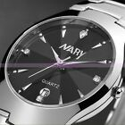 Classic Tungsten Steel Quartz Mens Womens Sport Date Calendar Couple Wrist Watch