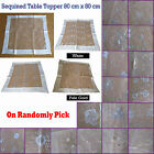 Embroidered Sequined Organza Table Topper SQUARE 80cm x 80cm