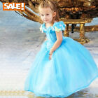 Costume Kids Girls Childs Party Dress Cinderella Classic Princess Cosplay Sweet