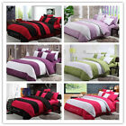 Stripe Single/Queen Size Bed Quilt/Doona/Duvet Cover Set New Polyester Linen