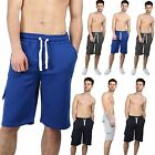 Mens Branded Plain Swim Fleece Light weight Baggy Fit Cargo Summer Shorts S-XL