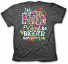 New Kerusso Cherished Girl Brand Christian BIG FAITH Womens T-Shirt Religious