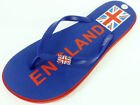 MENS SPOT ON FLIP FLOPS IN BLUE/RED F0776 IDEAL FOR EVERYDAY/BEACH WEAR