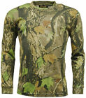 MENS GENTS GUYS LONG SLEEVED CAMOUFLAGE CAMO T SHIRT TOP MILITARY ARMY CLOTHING