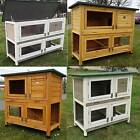 LARGE RABBIT HUTCH GUINEA PIG HUTCHES RUN LARGE 2 TIER DOUBLE DECKER CAGE
