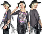 Too Fast Punk Rock Goth She Devil Fringe Top Fly High Tshirt 70s