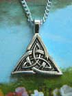 CELTIC KNOT TRIQUETRA TRIANGLE CHARM NECKLACE PENDANT THOR TRINITY KNOT