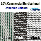 2m & 4m x 50m 30% Shade Cloth Horticultural Grade 90gsm Shadecloth