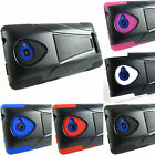 for HTC Windows Phon 8X + Pry Tool Sleek Hybrid Hard/Soft Kickstand Case Cover