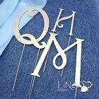 7cm Monogram Wedding Cake Topper HRT Letters Silver Black Gold Metal 3 Colours